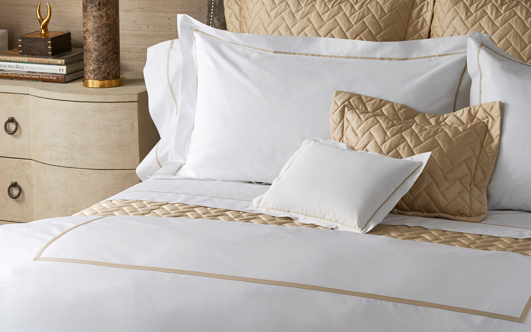 Bed. Gatsby. We Waited To Create A 1,000 Thread Count Collection Until We  Found The Perfect Yarn. We Have. Treat Yourself To Our Most Luxurious  Sheeting: ...